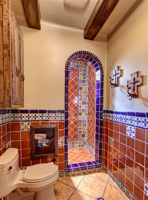 mexican tile bathroom ideas home decorating ideas the style