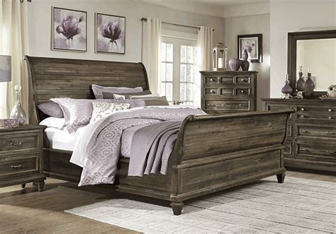 sleigh bedroom sets queen calistoga charcoal queen sleigh bedroom set lexington