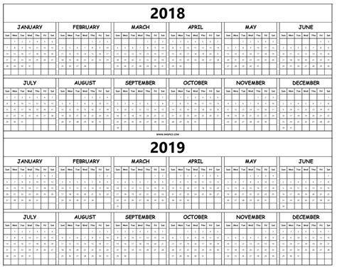 printable calendar april 2018 to march 2019 2018 2019 yearly calendar template printable monthly