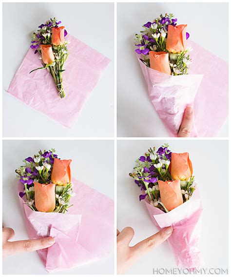 How To Make A Flower Out Of Wrapping Paper - don t miss how to create a mini flower bouquet right at