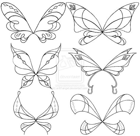 sketchs chibi with wings coloring pages