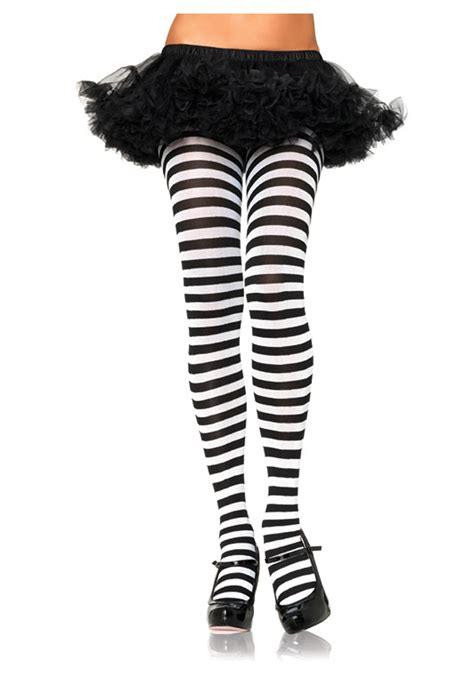 black and white patterned tights plus size black white striped tights ebay