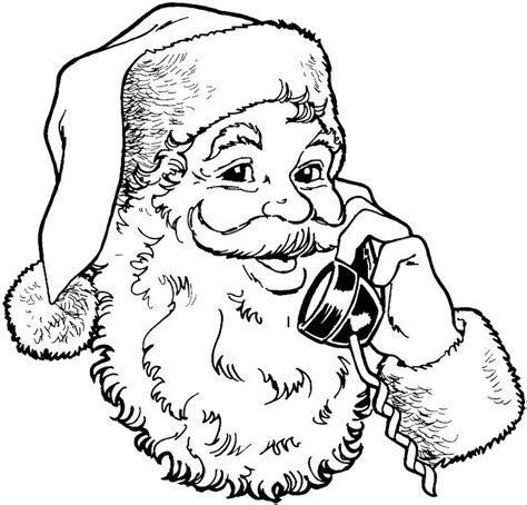 Free Coloring Pages Of Santa Claus Template Santa Claus Coloring Page