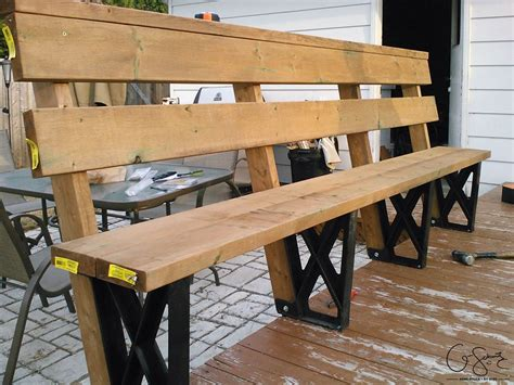 deck benches building a deck bench with brackets madness method