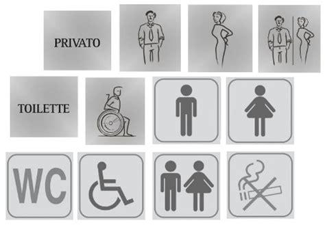 porte per bagni pubblici taghette e pittogrammi segnaletici per porte di bagni pubblici