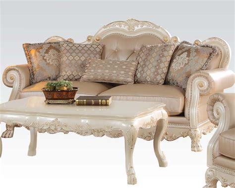 antique white sofa acme furniture antique white sofa dresden ac53260