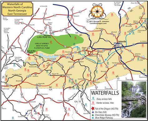 carolina waterfalls map waterfalls of western carolina and