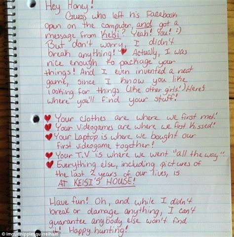 Love Letter Girlfriend After Break is this the best breakup letter ever woman dumps cheating boyfriend