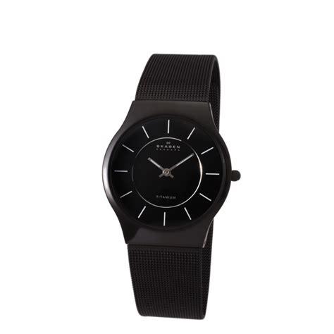 skagen womens titanium black mesh ultra thin new ebay