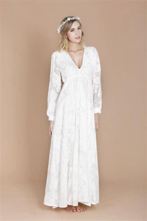 10 robes manches longues pour r 233 chauffer les bras de la - Robe Mariée Manche Longue Boheme