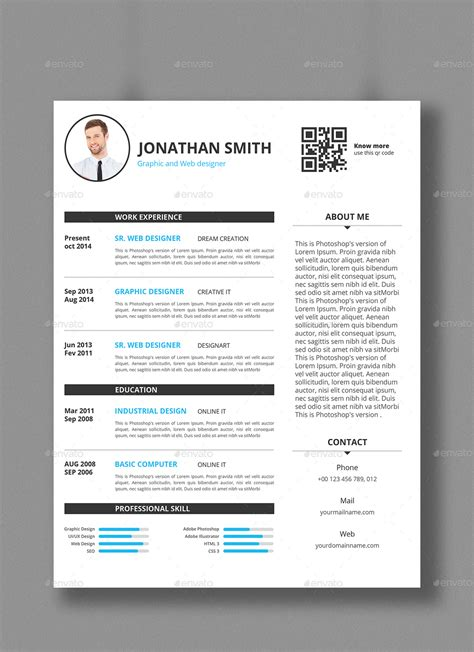 Smart Resume by Smart Resume Template By Designstemplate Graphicriver
