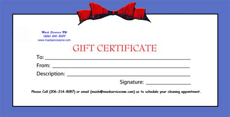 template for gift certificate for services 7 best images of printable house cleaning certificate