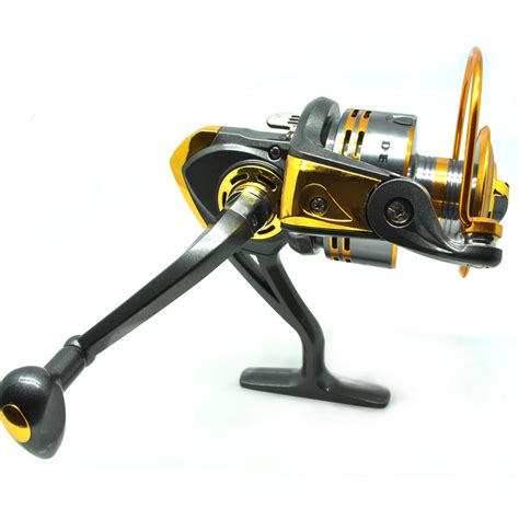 debao gulungan pancing db6000a metal fishing spin reel 10 bearing golden