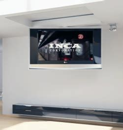 In Ceiling Tv Lift by Ceiling Mounted Lifts Tv Lifts Robotic Motorized Tv Panel Lift System Solutions