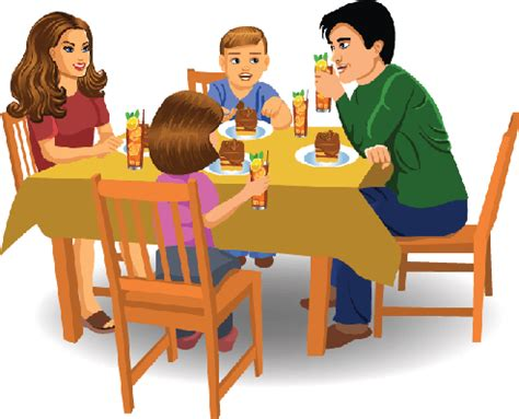 Living Room And Dining Room Together by Family Dinner Clipart The Arts Image Pbs Learningmedia