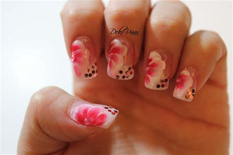 fotos de uñas acrilicas rojas decoracion de u 241 as con flores one stroke flowers nail
