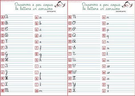 le lettere in corsivo alfabeto corsivo maiuscolo e minuscolo genitorialmente