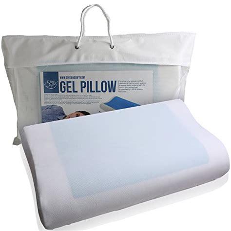 hapnose memory foam pillow for neck pain side back 2 pack save soft memory foam pillow with cooling gel