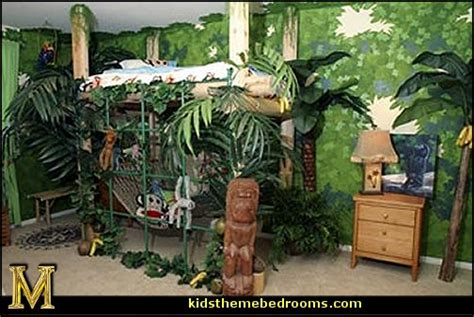 Rainforest Bedroom | decorating theme bedrooms maries manor tropical