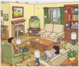 is livingroom one word living room dictionary for kids