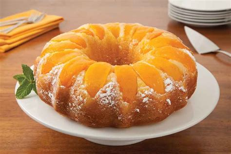 Canned peach bundt cake recipe   Food for health recipes