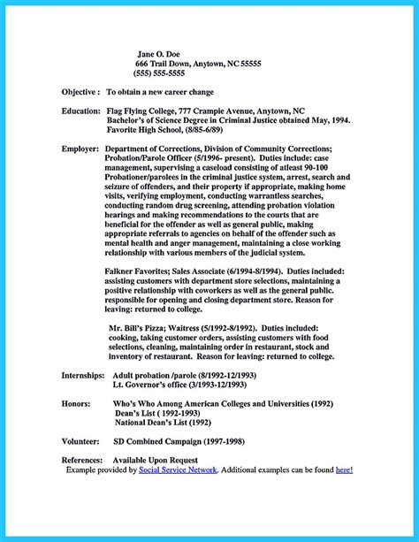 Officer Resume Exles by Correctional Officer Resume To Get Noticed