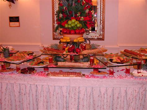Buffet Table Decor Evening Pictures