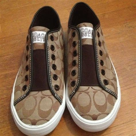no lace sneakers 72 coach shoes brown coach no lace sneakers from