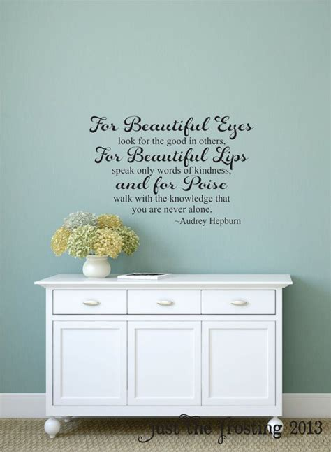 wall stickers teenage bedrooms audrey hepburn for beautiful eyes quote wall decal teen