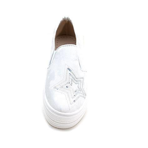 Sepatu Fashion Sneakers Semi Boots Platform Velcro Glitte 1 s vintage synthetic leather glitter spangle toe thick platform slip on sneakers silver