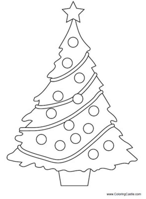 blank christmas tree coloring pages getcoloringpagescom