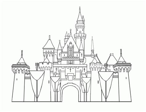 magic castle coloring page magic kingdom florida coloring pages coloring home