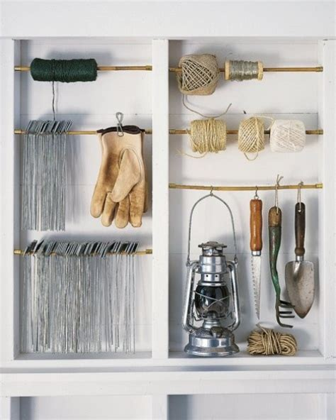 Shed Organization Diy by 33 Practical Garden Shed Storage Ideas Digsdigs