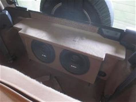 Jeep Wrangler Sub Box 1987 2006 Jeep Wrangler 2 Door Subwoofer Box