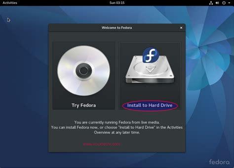 fedora 25 workstation installation guide with screenshots