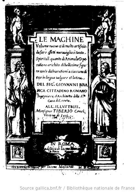 Le machine : volume nuovo et di molto artificio da fare