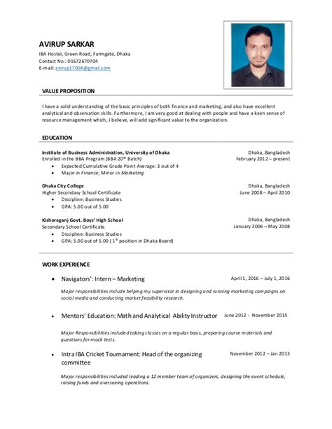 Up To Date Cv Template by Avirup Cv Up To Date