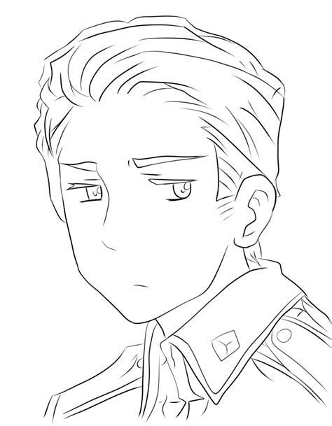 Hetalia Germany Lineart By Kidlat09 On Deviantart Hetalia Coloring Pages