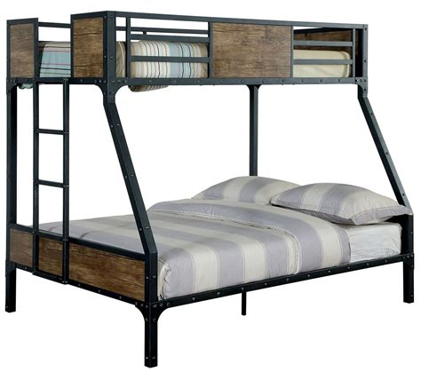 Bunk Beds Metal Clapton Metal Bunk Bed Cm Bk029tf Furniture Of America