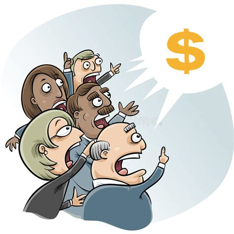 bid business bidding business stock illustration illustration