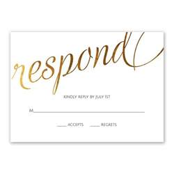 style script foil response card invitations by