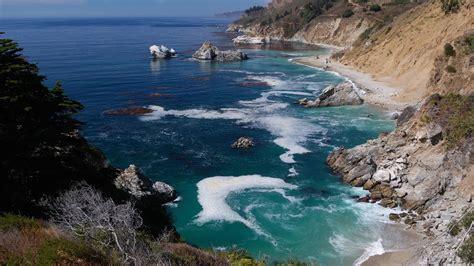 big sur mcway falls dolly   pacific coast california