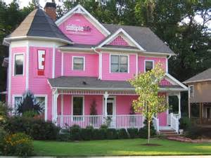 great house interior pink house