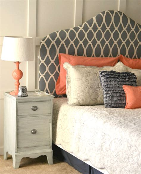 Headboard Fabric Diy by Diy Stenciled Headboard Stunners 171 Stencil Stories