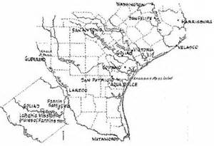 where is goliad on the map goliad and location of following the