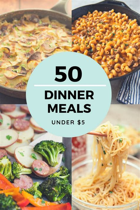 10 dinners for 5 cheap dinner recipes and ideas cheap dinner recipes for 5 or less more than 50 ideas