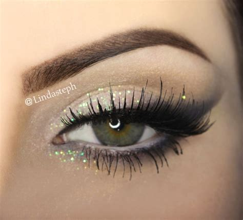 Glitter Makeup subtle glam look easy to achieve