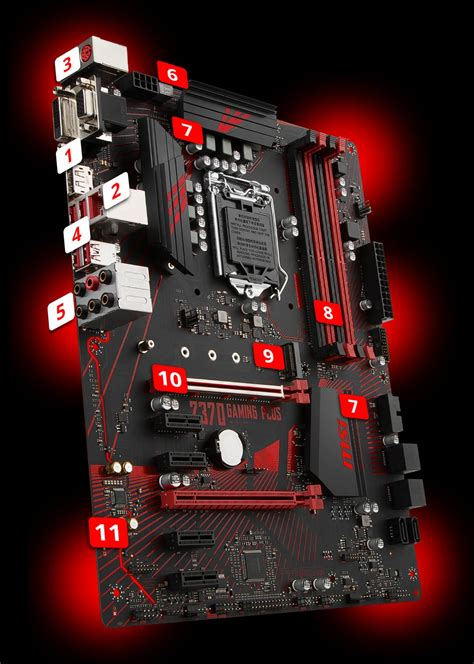 Msi Z370 Gaming Plus Lga1151 Z370 Ddr4 Usb3 1 Sata3 z370 gaming plus motherboard the world leader in