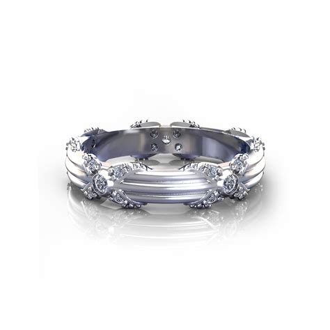 Wedding Ring Floral Design by Ribbed Floral Wedding Ring Jewelry Designs