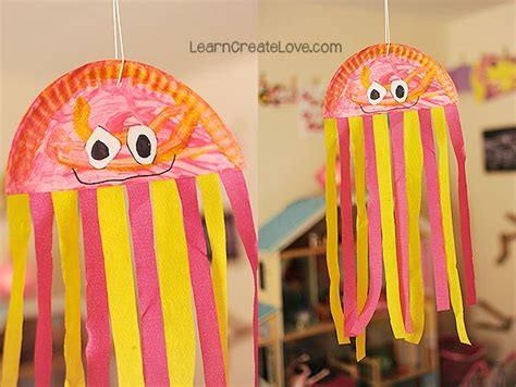 Paper Jellyfish Craft - 25 best paper plate jellyfish ideas on